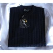 100% Merino Navy Crew neck Pullover